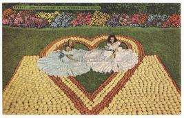 St Petersburg FL, Citrus Time Show ~Women in Heart of Fruit c1940s postcard - $4.96