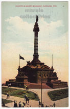 Cleveland Ohio, Soldiers and Sailors Monument c1910s-20s vintage postcard - $3.63
