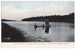 Montreal River~Temagami District Ontario c1900s postcard Gr.Trunk Railwa... - $4.55