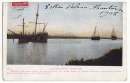 CHICAGO WORLD'S COLUMBIAN EXPOSITION ~COLUMBUS SHIPS JACKSON PARK 1908 p... - $9.65