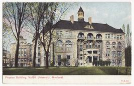 Montreal PQ, McGill University, Physics Building c1910 Canada postcard M... - $3.22