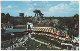 Cypress Gardens Florida ~ The Terrace and Car Park ca1950s-60s postcard - $4.55