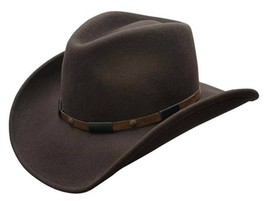 NEW Conner Roper Shapeable 3.5 Brim 100% Rain Proof WOOL Cowboy Hat Brow... - €59,26 EUR