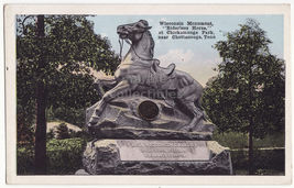 Chattanooga TN~Wisconsin Monument Riderless Horse Chickamauga Park 1910 ... - $3.63