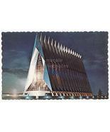 Cadet Chapel US Air Force Academy COLORADO Night View 1967 postcard M8791 - $3.63