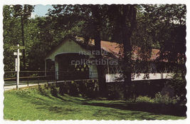 ASHUELOT NH ~NEW HAMPSHIRE WOODEN COVERED BRIDGE~c1960s postcard - $3.22