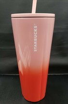 Starbucks 2020 Stainless Steel 24 Ounce Ombre Pink Red Tumbler NEW - $44.60