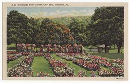 Reading Pennsylvania Pa, Municipal Rose Garden, City Park C1940s Linen Postcard - $4.14