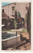 La Jolla CA  Casa de Manana Hotel Patio & Parrot c1930s Albertype postcard - $5.47