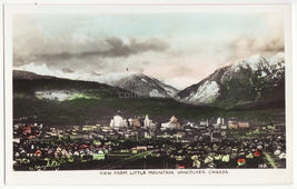 Vancouver BC Canada View from Little Mountain c1930s real photo postcard... - $4.55