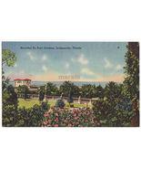 JACKSONVILLE  FL ~ BEAUTIFUL DU PONT GARDENS 1950s vintage Florida postcard - $3.63