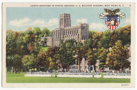 WEST POINT MILITARY ACADEMY NY, Cadets Marching to Parade Grounds c1939 ... - $3.22