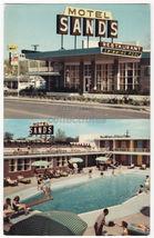 Texarkana TX ~ The Sands Motel and Swimming Pool c1960s Texas postcard - $4.14