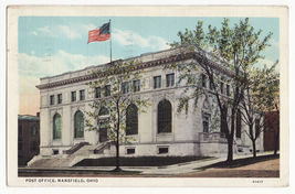 MANSFIELD OHIO, POST OFFICE BUILDING ~ 1930s vintage postcard ~OH - $3.63