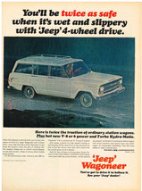 Vintage 1967 Magazine Ad Jeep Wagoneer Twice The Traction & Grip Of Othe... - $5.93