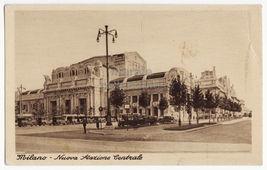 ITALY Milan Milano, Nuova Stazione Centrale Railway Station c1930s postcard - $5.47