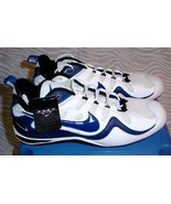 Nike Zoom Air Football Shoes Men's Size 16 White & Blue Pre-owned Unworn - $29.75