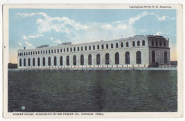 KEOKUK Iowa, Power House Building, Mississippi River Power Co - 1913 pos... - $3.63
