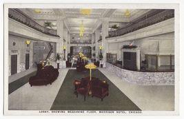 CHICAGO IL ~ MORRISON HOTEL INTERIOR ~LOBBY & MEZZANINE FLOOR 1920 postcard - $6.39