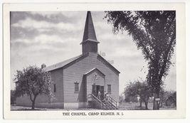 CAMP KILMER NJ - The Chapel - 1940s vintage US ARMY New Jersey postcard - $3.63
