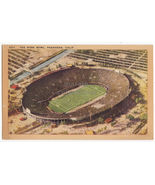 PASADENA CA, THE ROSE BOWL AERIAL VIEW - 1940s vintage postcard - $3.22