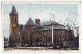London Ontario, First Methodist Church, c1910s vintage Canada postcard M... - $4.14