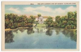 Cleveland OH, Fine Arts Gardens & Art Museum Front View c1940s vintage p... - $4.55