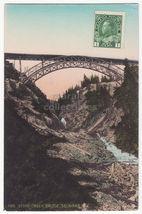 SELKIRK MOUNTAINS BC Canada STONY CREEK RAILWAY BRIDGE c1910s vintage po... - $3.63