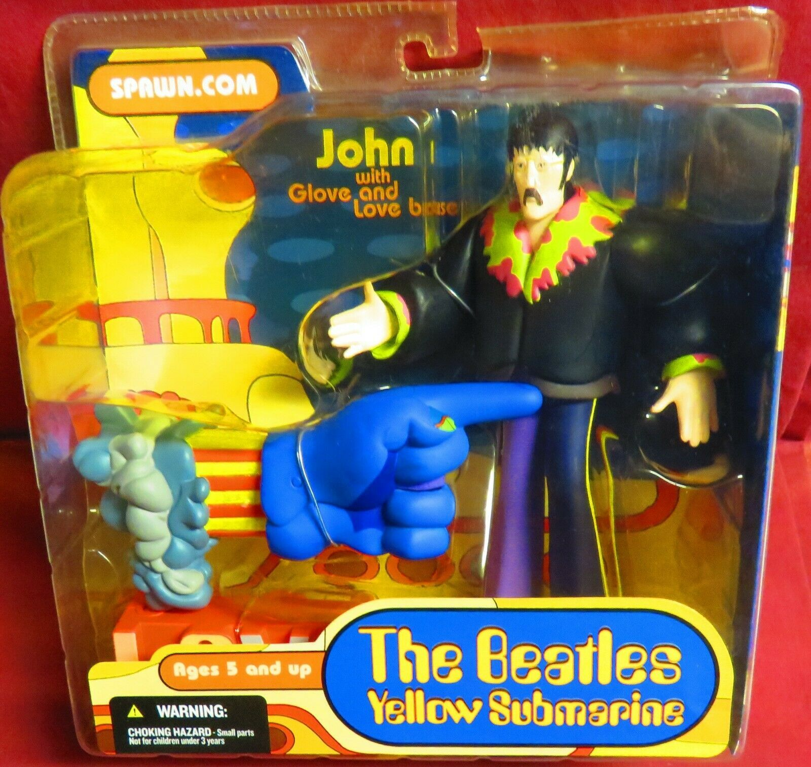 "Primary image for MCFARLANE FIGURE, 2004, ""THE BEATLES"",  YELLOW SUBMARINE, JOHN WITH GLOVE & LOVE"