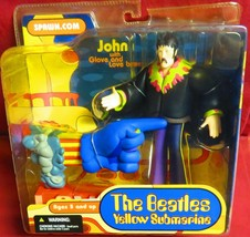 "MCFARLANE FIGURE, 2004, ""THE BEATLES"",  YELLOW SUBMARINE, JOHN WITH GLOV... - $24.74"