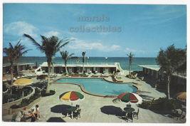 Hollywood Beach FL ~ The Sea SPA Swimming Pool c1960s postcard M2592 - $3.45