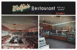 ST PETERSBURG FL ~ WOLFIE S RESTAURANT & RETAIL SHOP ~c1960s postcard - $3.63
