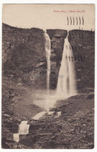 YOHO VALLEY BC, TWIN FALLS Canadian Rockies scenic view 1910s postcard - $4.14