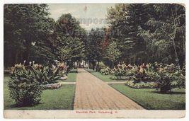 GALESBURG ILLINOIS ~ SCENIC WALKWAY STANDISH PARK  c1909 vintage postcard - $3.45