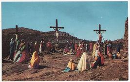 Wichita Mountains Oklahoma, Easter Sunrise Service, Crucifixion Postcard - $3.22