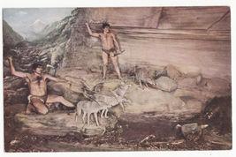 CHICAGO IL ~ NATURAL HISTORY MUSEUM ~AZILIANS STONE AGE HUNTERS postcard - $3.63