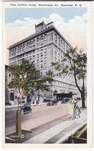 Montreal PQ Canada, Ritz Carlton Hotel & Women walking c1920s postcard - $5.47