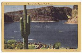 Canyon Lake, Apache Trail Arizona, 1950s vintage postcard ~ AZ - $3.63