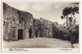 GREECE ATHENS,  PRISON OF SOCRATES HISTORIC ANCIENT SITE c1930s RPPC pos... - $5.98