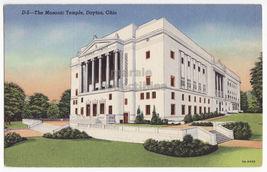 DAYTON OHIO, MASONIC TEMPLE BUILDING - c1940s postcard - $4.55