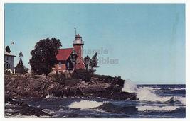 Lake Superior Michigan, Eagle Harbor Lighthouse C1960s Postcard - $4.55