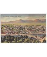 MEXICO ~ CIUDAD JUAREZ BIRDS EYE VIEW & RIO GRANDE BRIDGE ~c1940s postcard - $3.75