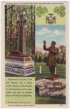 Gettysburg Battlefield PA, Father Corby - NY Irish Brigade Monuments pos... - $3.63