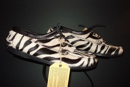 Men's Yuketen Baby Zebra Blucher Kiltie With Boat Shoe Sole 10.5 D NEW/U... - $208.03