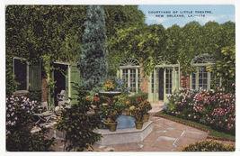 NEW ORLEANS LA ~ PETIT THEATRE DU VIEUX CARRE COURTYARD ~ c1940s postcard - $3.22