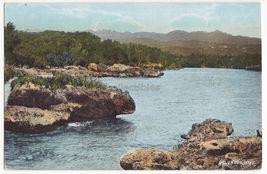 JAMAICA Columbus Cove seafront view -  c1910s vintage postcard - $3.63