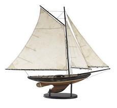 Antiqued Vintage Style Newport Sloop Sailboat Sailing Ocean Model - $165.00
