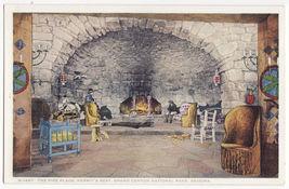 GRAND CANYON PARK AZ~HERMIT REST LOUNGE - FIRE PLACE c1910s FRED HARVEY ... - $2.71