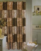 Safari Zambia Patch Fabric Shower Curtain - $25.99