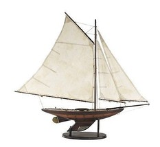 Antiqued Vintage Style Yacht Ironsides Sailboat Sailing Ocean Model (small) - $165.00